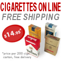 Buy CIGARETTES ON LINE and Save! FREE SHIPPING WORLDWIDE